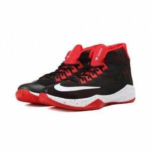 596167e9a896 NIB! MEN S NIKE ZOOM DEVOSION BASKETBALL SHOE Sz 14 BLK  WHITE RED ...