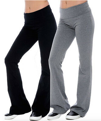 Womens Fold over Waistband Stretchy Cotton Spandex Lounge Gym Sports Lot YP1000
