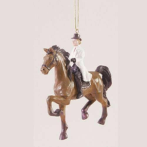 CLEARANCE...ENGLISH GAITED HORSE /& RIDER Christmas Ornament