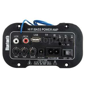 Car-Truck-Hi-Fi-bluetooth-Amplifier-Subwoofer-Board-Audio-MP3-TF-USB-Remote