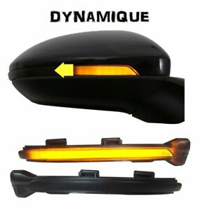 2-CLIGNOTANT-LED-DEFILANT-DYNAMIQUE-NOIR-DE-RETROVISEUR-VW-GOLF-7-TOURAN-2