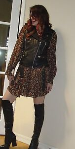 Punk Sylvia Nwt Leather Black Vest Topshop 240 Motorcycle 00 566zXqr