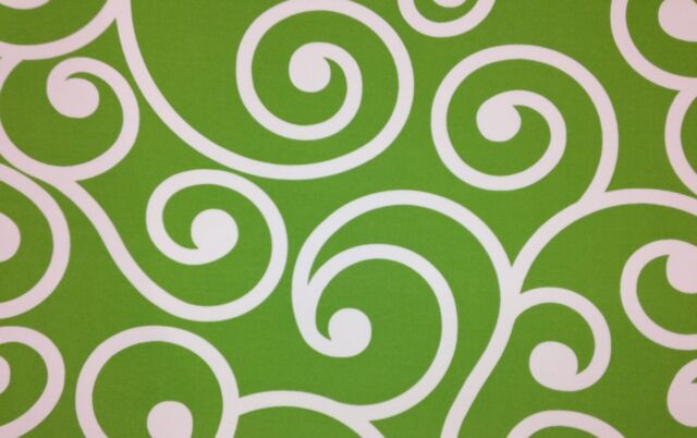 RICHLOOM BEST CITRUS LIME GREEN SCROLL LATTICE OUTDOOR INDOOR FABRIC BY THE YARD