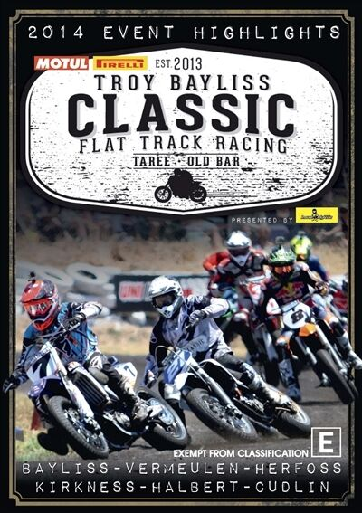 Troy Bayliss Classic-Highlights-Flat Track Racing(DVD, 2014)--FREE POSTAGE