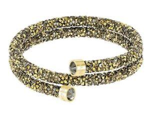 New-in-Box-89-Swarovski-Crystaldust-Double-Bracelet-Golden-Size-Small-5373047