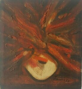 Painting by Fayad Jamis. No title. Year 1959. Original signed by the artist