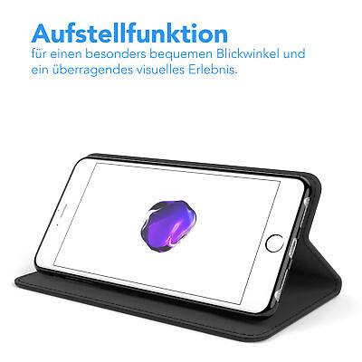 Tasche für Apple iPhone 8 / 7 Plus Cover Handy Schutz Hülle Case Etui Schwarz