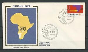 Geneva-UN-Collection-Colorano-FDC-Enveloppe-Scott-34-Stamp-Oct-1-1973