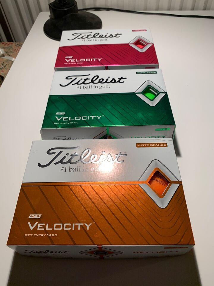 Golfbolde, Titleist Velocity orange , pink