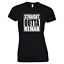 Straight-Outta-Rehab-Funny-Joke-Ladies-Womens-White-Black-Cotton-T-shirt thumbnail 1
