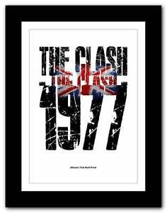 Details about ❤ The Clash - 1977 ❤ Albums That Built Punk typography poster  art print