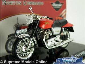Details about NORTON COMMANDO 750 MODEL MOTORBIKE 1:24 SIZE RED IXO 1969  CLASSIC ATLAS T3