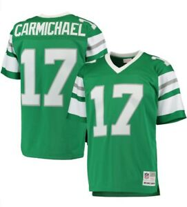 Details about Mitchell & Ness 1980 Carmichael #17 Philadelphia Eagles NFL Green Replica Jersey