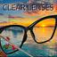 FEARLESS-Women-Eyeglasses-CAT-EYE-Clear-Lens-Shadz-Metal-ARMS-Glasses-Oversized thumbnail 17
