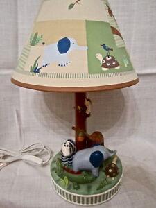 kidsline zanzibar lamp shade jungle safari nursery zebra monkey. Black Bedroom Furniture Sets. Home Design Ideas