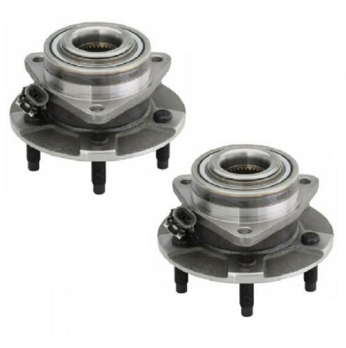PAIR FRONT Wheel Hub Bearing Assembly For 2006 PONTIAC TORRENT 4-WHEEL ABS