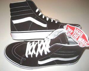 e23e4ab743ef61 Vans Mens Sk8-Hi Chocolate Torte True White Canvas Suede Skate shoes ...
