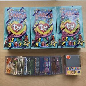 LOT-3-BBOC-Ty-Beanie-Babies-Collector-s-Cards-Series-3-2nd-Edition-Box-MORE