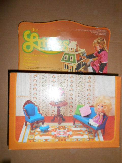 THE LITTLES  LIVING ROOM gree bambola HOUSE Family MATTEL VINTAGE nuovo  classico senza tempo