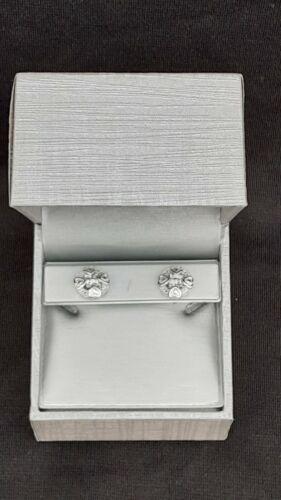 Zales Diamond Accent Mini Coeur Cadre Clous d/'oreilles en argent sterling