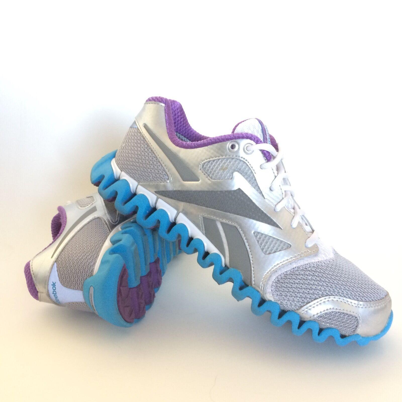 Reebok Zignano Fly 2 Womens Running Shoes Size 9 Silver Purple