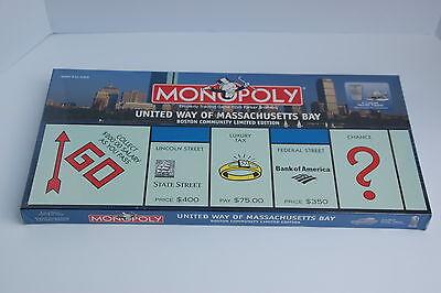 MONOPOLY United Way Of Massachusetts Bay Boston Community Limited Edition NEW
