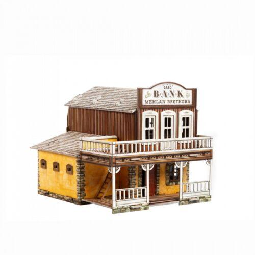 Bank Building Games Terrain Landscape Scenery Cardboard Model Kit 469