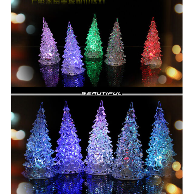 led battery operated colour changing desk table top christmas tree light - Battery Operated Christmas Trees