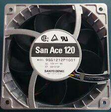 SANYO Brushless DC San Ace 9SG1212P1G01 120mm 12V 4A Metal Fan