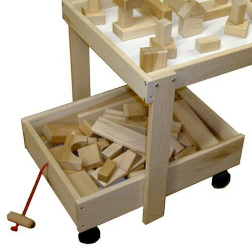BEKA HARD MAPLE WOODEN TOY STORAGE PULL CART CASTERS 06102 MADE IN THE USA NEW