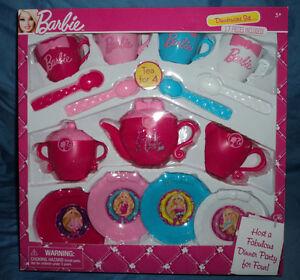 Image is loading Barbie-Dinnerware-Set-Tea-Party-Set-Dinner-Play- & Barbie Dinnerware Set Tea Party Set Dinner Play Pretend Brand ...