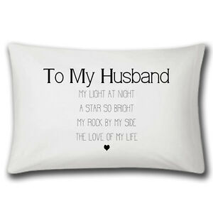 eb933b29dc7 My Husband Love Of My Life Pillow Case - Wedding Anniversary Gift ...