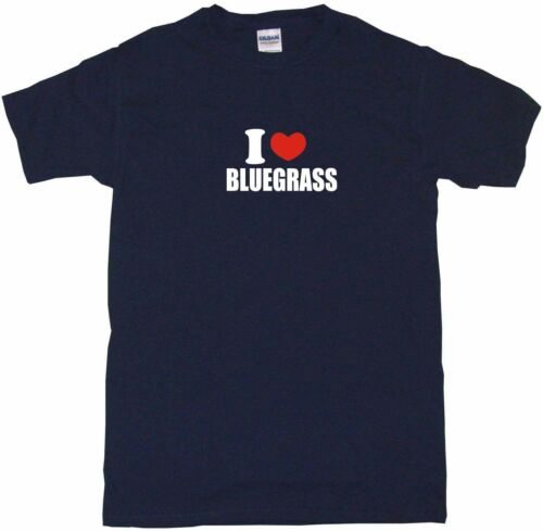 I Heart Love Bluegrass Kids Tee Shirt Boys Girls Unisex 2T-XL