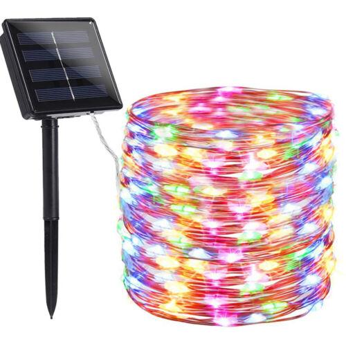Solar Powered Led Strip Light Fairy Outdoor garden Waterproof Christmas Decor