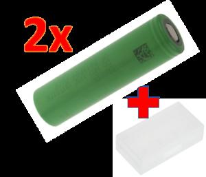 100% Wahr 2x Sony Us 18650 Vtc5 2600 Mah Batterie Akku Zb. Für E-zigarette Mod + Box Durchsichtig In Sicht