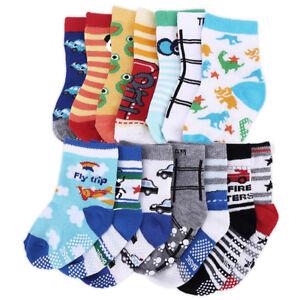 14-paires-anti-derapant-chaussettes-pr-tout-petits-bebe-enfants-1-3-ans-coton-PB