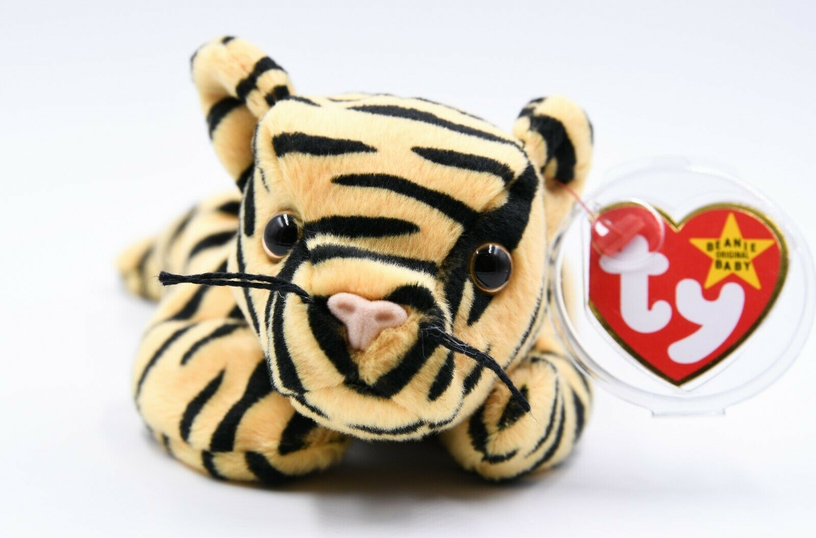Ty Beanie Baby Stripes the Tiger + 1995 + PVC Pellets +Tag Errors + Charity