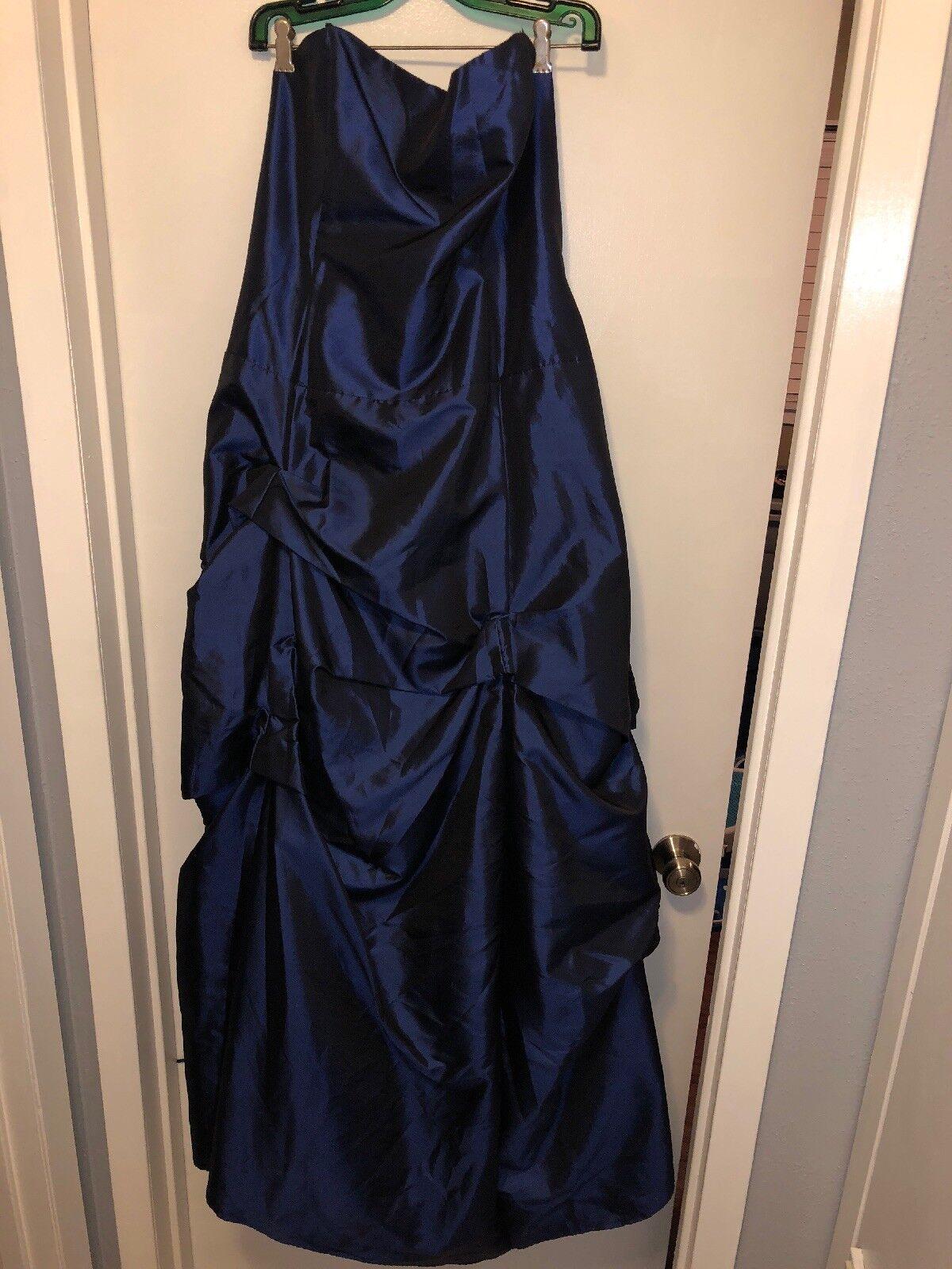 Fiesta bleu marine buscravater satin robe de bal 2xl neuf sans étiquettes