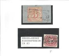 Th & T / GROSS - GERAU / BISCHOFSHEIM idealer Postabl.-Ra2 a. Pr. 24, Kabinett,