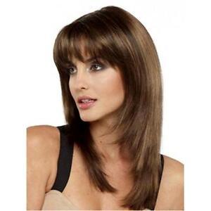 Brown-Blonde-mix-Straight-Wigs-Short-Hair-Wigs-Women-039-s-Fashion-Wig-amp-Free-Cap-b65