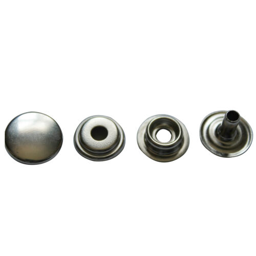 15mm Large Silver Metal Press Havy Duty Studs for Bag Jackets Jeans Clothing