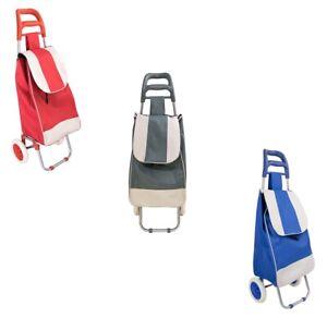 🛒 Carrello Spesa 2 Ruote Borsa Trolley Rosso Grigio Blu Porta spesa Alluminio