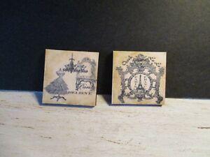 2 Maison De Poupées Miniature Vintage Mercerie Magasins Photos Aa-afficher Le Titre D'origine Artisanat D'Art