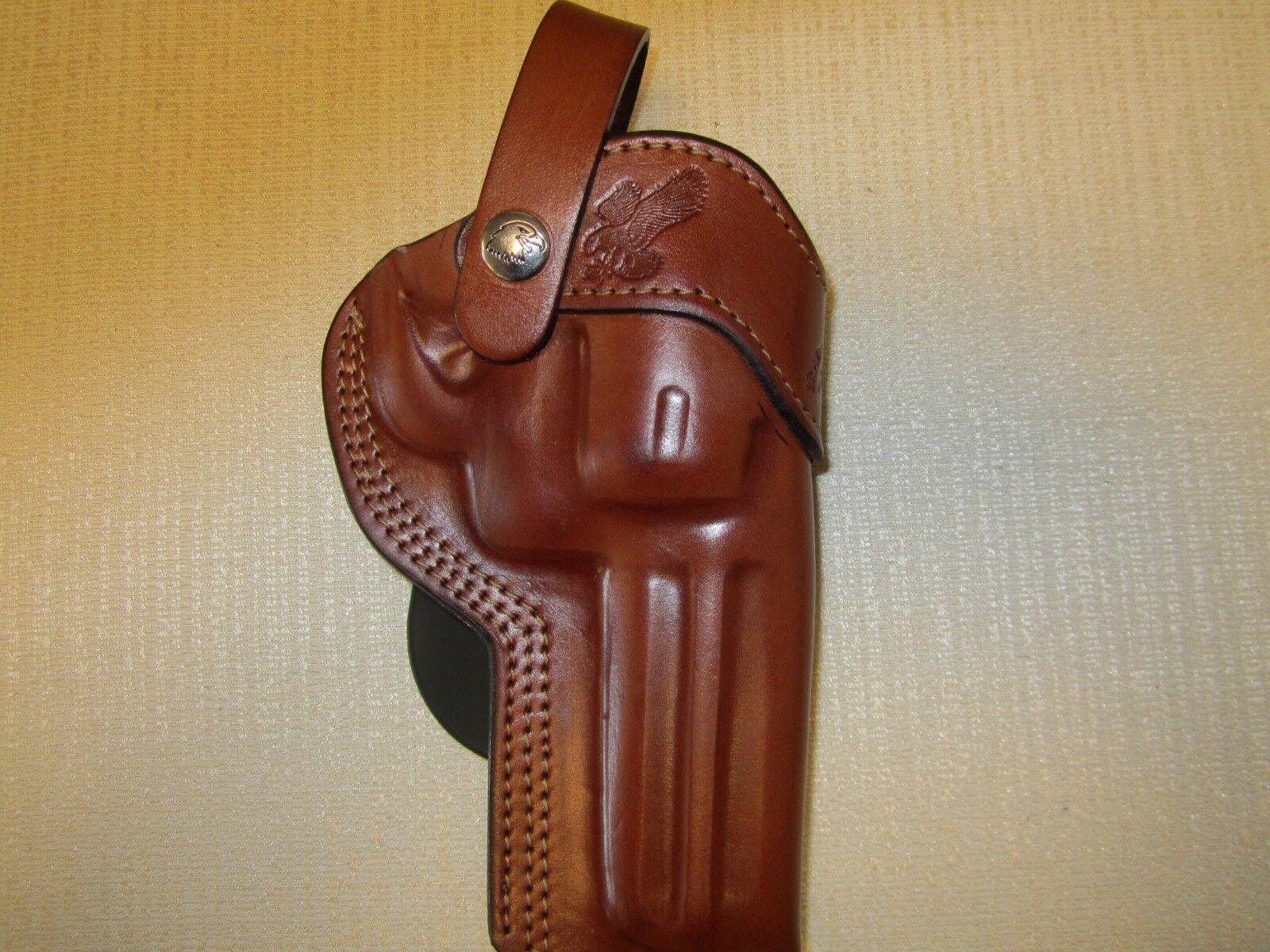 RUGER GP100 357 Engranaje De Artes Marciales. 4.2  barril, formado Marrón Cuero Funda Paleta de mano derecha