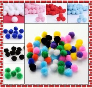 Pom-Pom-10-25mm-Baumwolle-Pompons-Bommeln-Naehen-Tilda-Borte-Farbauswahl