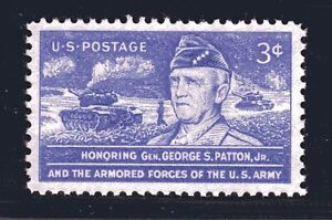 STATI-UNITI-Francobollo-1026-3c-Gen-George-Patton-Xf-Superb-Mint-Grado