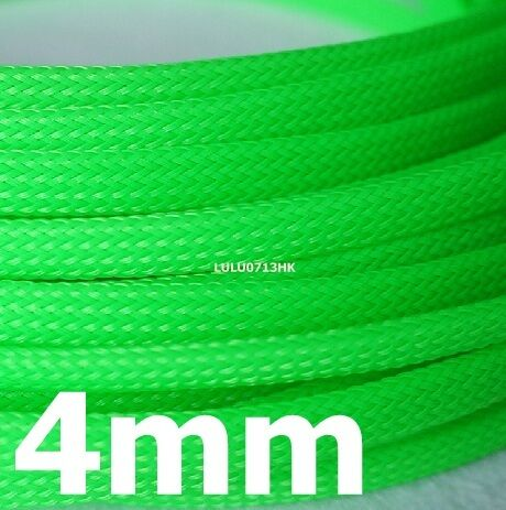 4mm Green Expandable Braided DENSE Cable Sleeve x5m