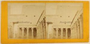 Egitto Tempio Da Luxor c1870 Foto Stereo Vintage Albumina