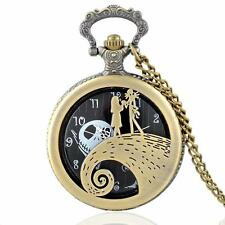 Jack Nightmare before Christmas Watch Antique style Necklace & Chain #PW11