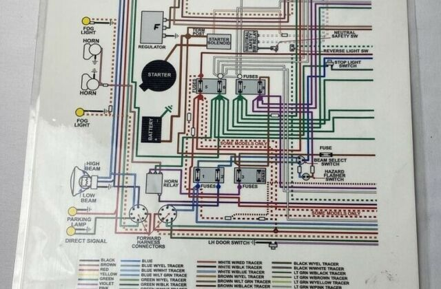 jaguar etype xke 42l series 1  11 x 17 laminated full color wiring  diagram